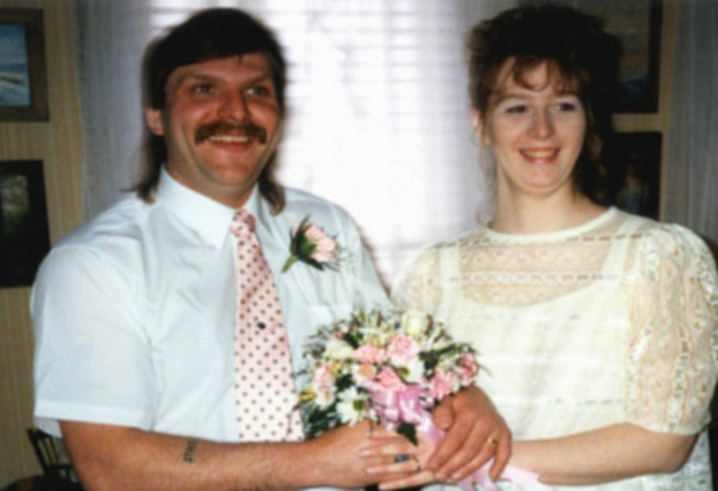 Stacey and second husband, David Castor